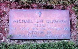 ector. photo. sunset. gladden mike headstone edited. jpg.